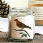 Beautiful paper wrapped voltive candles are perfect for homemade gifts
