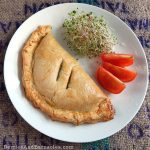 A lentil pasty is a quick vegetarian pie. Perfect for road trips, lunches or dinners
