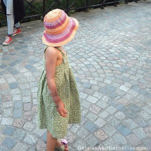 A knife pleat pillowcase sundress