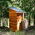 How to build a composting toilet with a rain barrel for handwashing