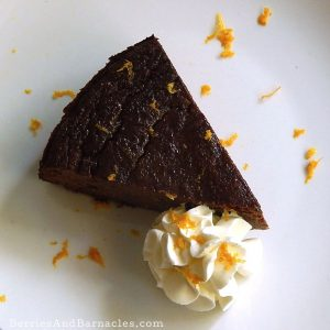 Rich and delicious orange and chocolate almond cake