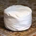 How to make poufs from paint drop cloths for affordable and flexible furnishing