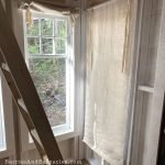 How to make blinds out of canvas drop cloths for a rustic window treatment
