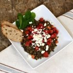 Looking for an affordable, zero-waste meal - Try this Mediterranean lentil salad!