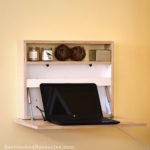This DIY wall-mounted fold-down desk is elegant and practical. Perfect for small homes and apartments